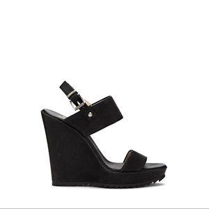 Vince Camuto Black Wedge Sandal